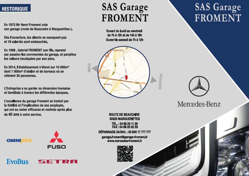 Populaire Plaquette de présentation - Garages Mercedes FromentGarages  BH43