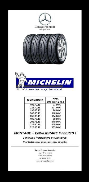 Tarif Pneus Michelin